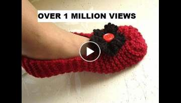 Knitted slippers for beginners, free knitting video for unisex slippers for men or women. - YouTu...
