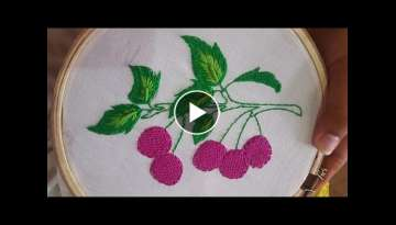 HAND EMBROIDERY (CHERRY DESIGNS) STITCH BY HAND