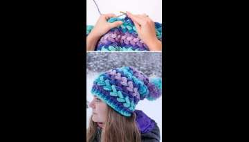 Braid Puff Stitch Crochet Pattern And Tutorial