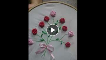 Hand Embroidery stitch flower