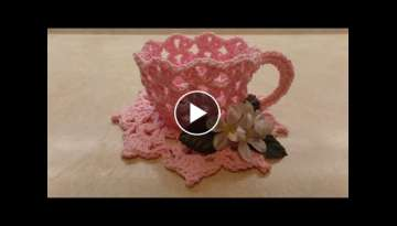 CROCHET How To Crochet Decorative TeaCup and Saucer #TUTORIAL #331 LEARN CROCHET