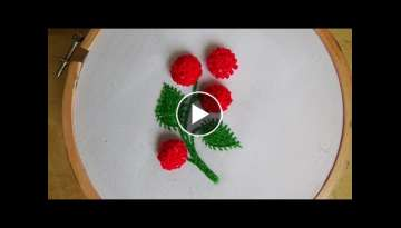 Hand Embroidery: Stump work (french knot)