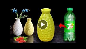 Stylist flower vase making at home // Plastic bottle flower vase