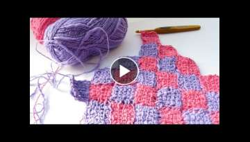 Tunisian Entrelac Patchwork - How to Crochet