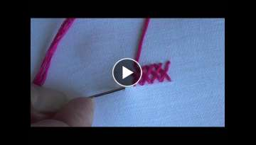 Hand Embroidery: Herring Bone Stitch