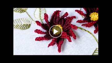 Embroidery Designs | Picot Stitch Flower | DIY Projects HandiWorks #105