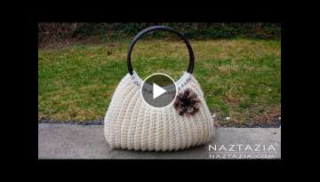 DIY Tutorial Easy Crochet Savvy Handbag Purse Tote - Croche Bolsa Borsa Bag