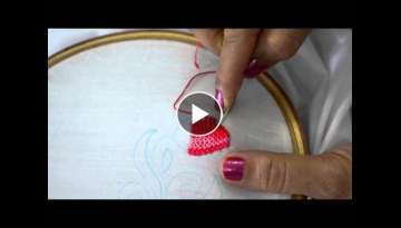 Strawberry stitch hand embroidery