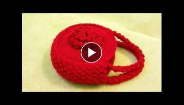 CROCHET How to #Crochet Flower Handbag Purse #TUTORIAL #120 supersaver