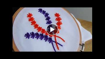 Hand Embroidery:Lazy daisy stitch