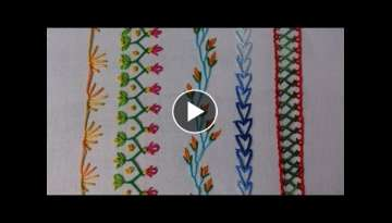 Hand embroidery stitches tutorial for beginners. Part-2. decorative stitches.