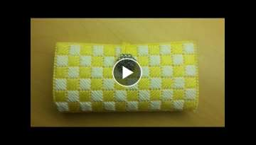 Clutch Wallet with plastic canvas