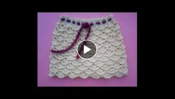 How to crochet skirt fans