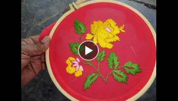 Hand Embroidery Simple Satin Stitch
