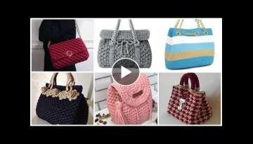 Trendy designer crochet knitted broiche pattern handbags designes