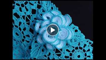 How to crochet a rose motif - Crochet Rose Brooch