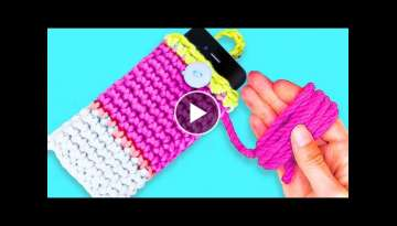 33 YARN CRAFTS AND KNITTED IDEAS | How to knit like a pro!