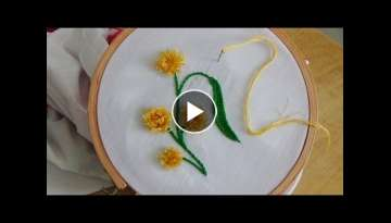 Hand Embroidery: Pom Pom Stitch
