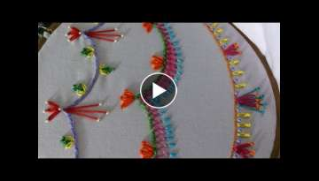 Hand embroidery stitches tutorial for beginners.stitches for borders. Part-5