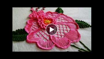 Hand Embroidery: Flower Embroidery for Cushions