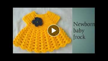Crochet newborn baby frock /Hindi (part 1)