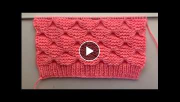 Butterfly Knitting Stitch Pattern For Sweater And Blanket