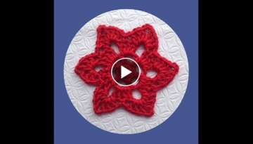 How to Crochet a Six Pointed Star Motif Pattern