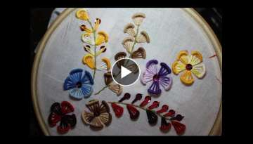 Hand embroidery designs | Embroidery design for dresses | Stitch and Flower-102