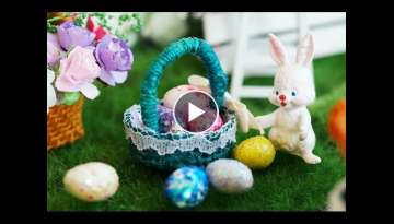 DIY Miniature Easter Egg Basket Tutorial - Nendoroid & Dollhouse accessories