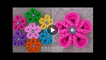 DIY Tutorial - How to Crochet Kanzashi Flower - Flowers of Japan