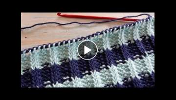 Tunisian Crochet Rib Stitch