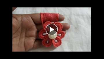 Hand Embroidery Easy Amazing Trick Wool Flower Making Finger Hack Design
