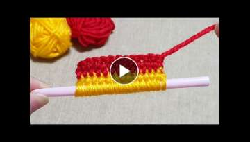 Amazing Flower Craft Ideas with Woolen - Hand Embroidery Amazing Trick - Easy Wool Flower Design
