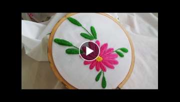 Hand Embroidery: Raised fishbone stitch variation
