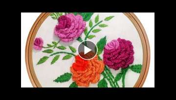 Brazilian Embroidery Pattern | Rose Embroidery