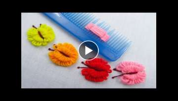 Hand Embroidery Amazing Trick, Easy Butterfly Embroidery Trick, Easy Sewing Hack