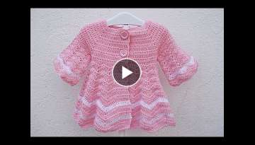 How to make a girl's crochet coat very easy