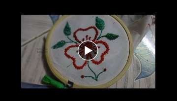 Hand Embroidery Flower Design