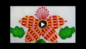 Hand Embroidery: Fantasy Flower/Checkered Stitch