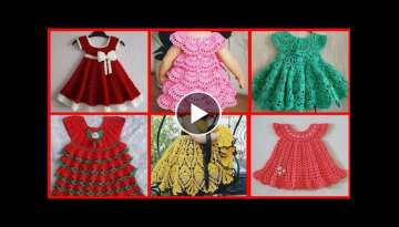 Most beautiful handmade crochet baby frock designs collection