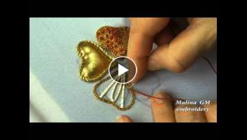 EMBROIDERY FROM THE ROPE \ GOLDWORK: Embroidery on decking rope
