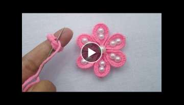 Hand Embroidery Tricks, Super Easy Flower Embroidery Trick, Amazing flower tricks