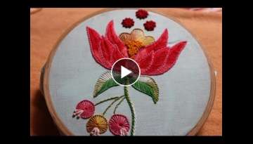 Hand Embroidery Designs | Beautiful flower design | Stitch and Flower-129