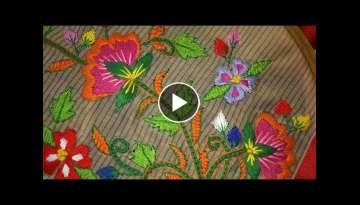 Hand embroidery stitches tutorial - Hand embroidery design for blouses