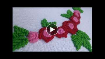 Hand Embroidery Pattern | Bullion Stitch | HandiWorks #37