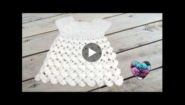 Robe point en relief crochet toutes tailles / Dress all sizes crochet (english subtitles)