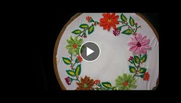 Hand embroidery designs - embroidery stitches tutorial - detached button hole stitch-leisha's gal...
