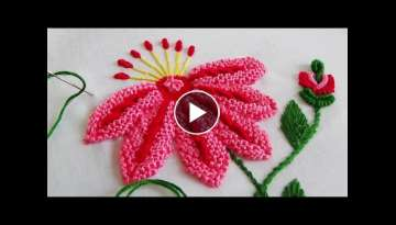 Hand Embroidery: Caston stitch variation
