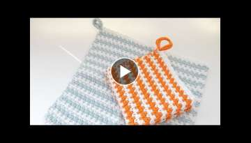 How to Crochet my Moss Stitch Washcloth