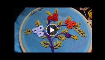 Hand Embroidery Buttonhole Stitchby Amma Arts